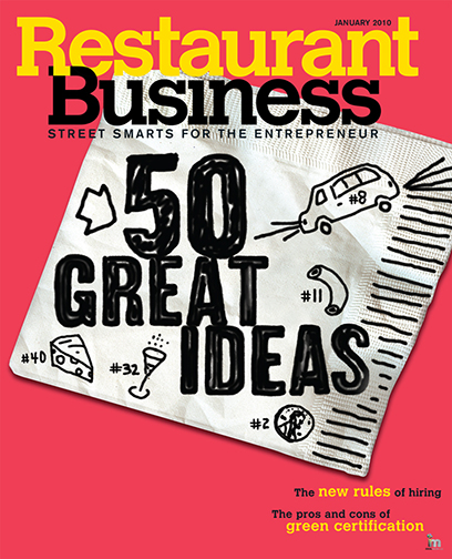 Restaurant Business Magazine January 2010 Issue