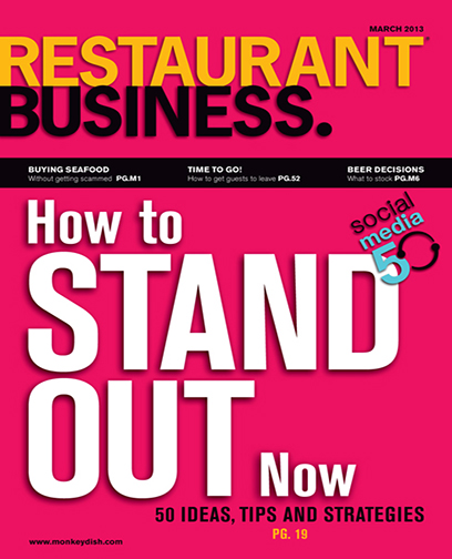 Restaurant Business Magazine March 2013 Issue