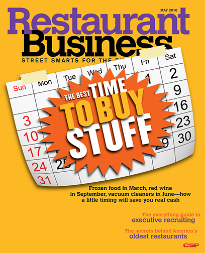 Restaurant Business Magazine May 2010 Issue