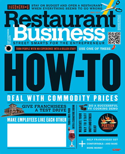 Restaurant Business Magazine May 2011 Issue