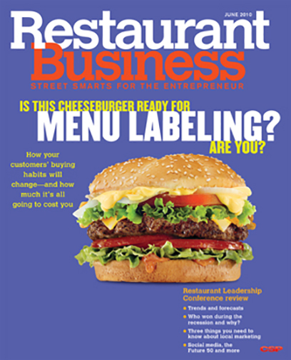 Restaurant Business Magazine June 2010 Issue