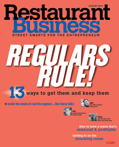 Restaurant Business Magazine August 2010 Issue