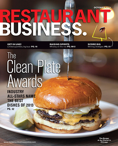 Restaurant Business Magazine October 2013 Issue