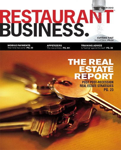 Restaurant Business Magazine November 2012 Issue