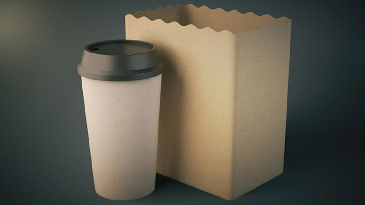 blank coffee cup bag