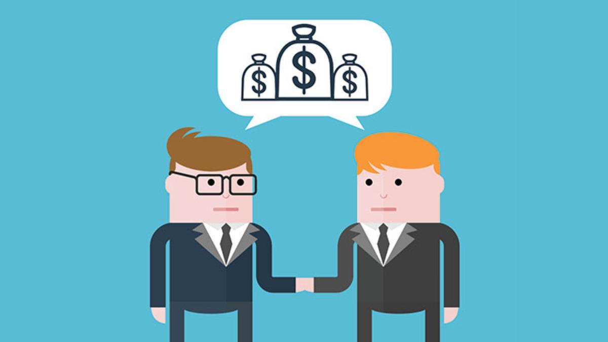 businessmen agree money