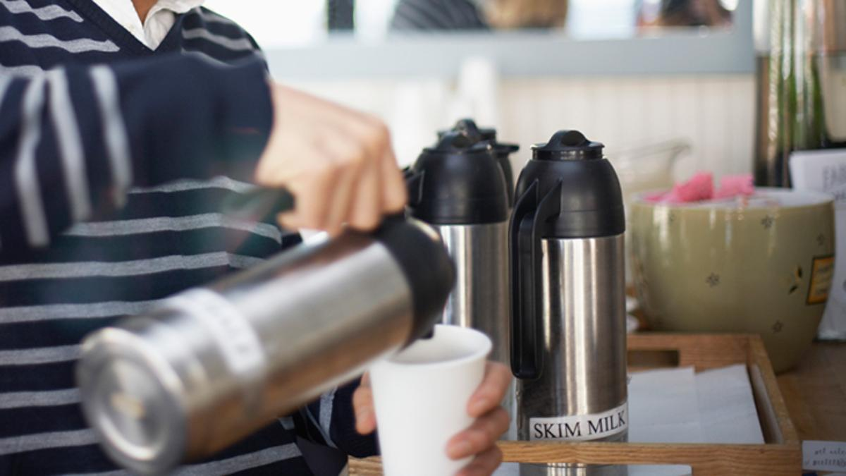 cream coffee station customer