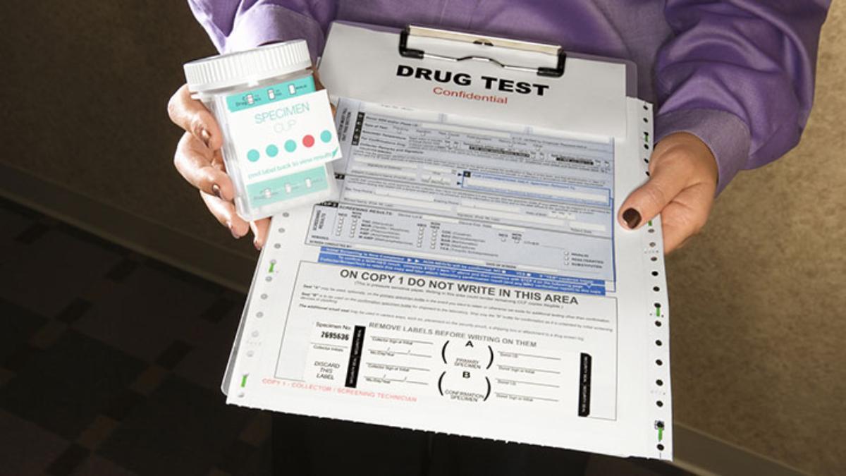 drug test cup form