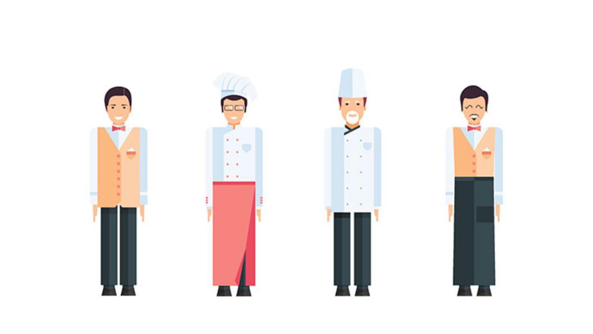restaurant uniforms illustration