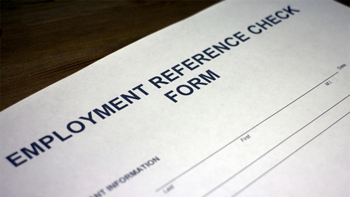 resume references employment