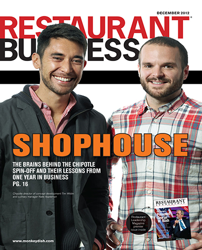 Restaurant Business Magazine December 2012 Issue