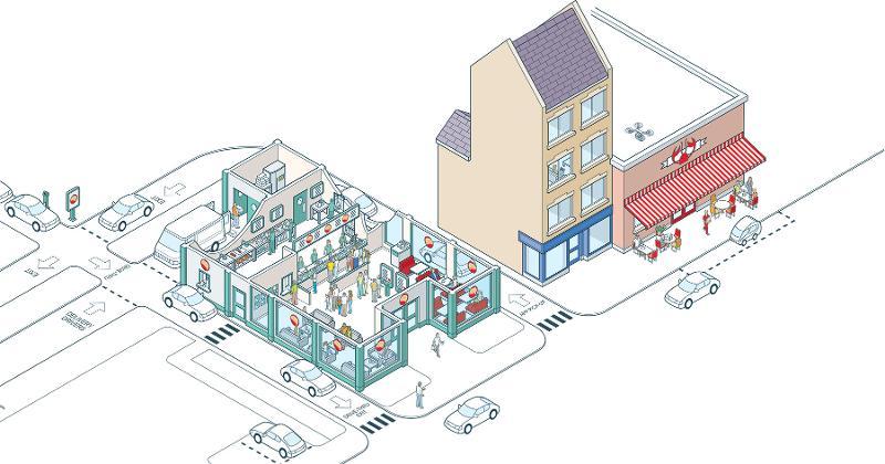 restaurant future illustration