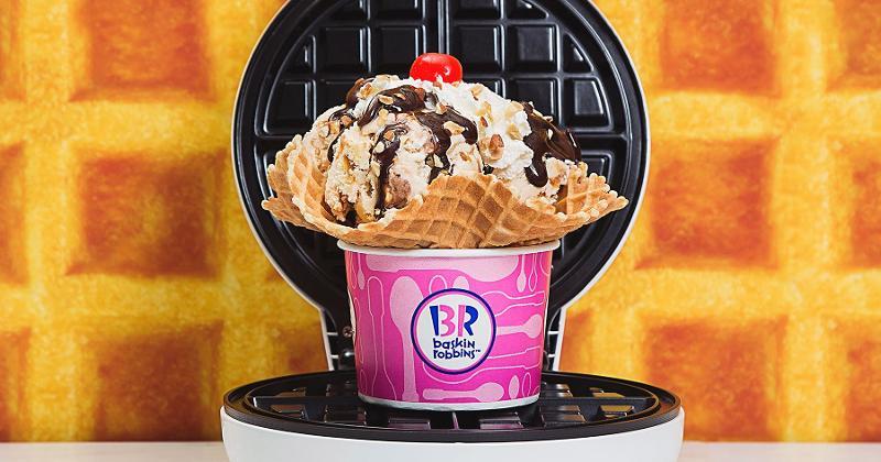 baskin robbins belgian waffle ice cream