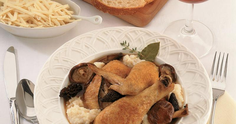 chicken with asiago grits