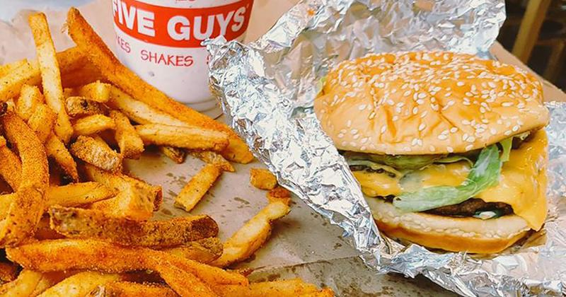 five guys burger fries