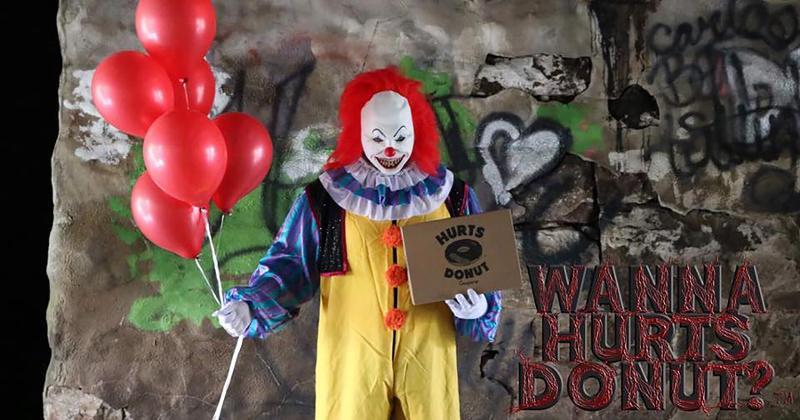 hurts donuts clown