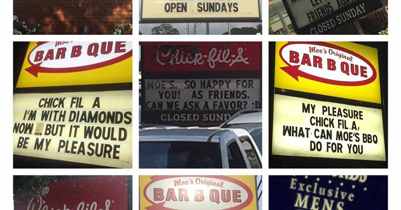 moes chick fil a signs
