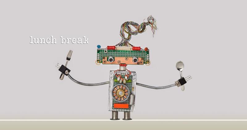 robot eating