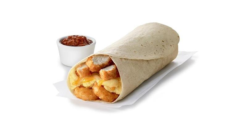 chick fil a hash brown scramble breakfast burrito