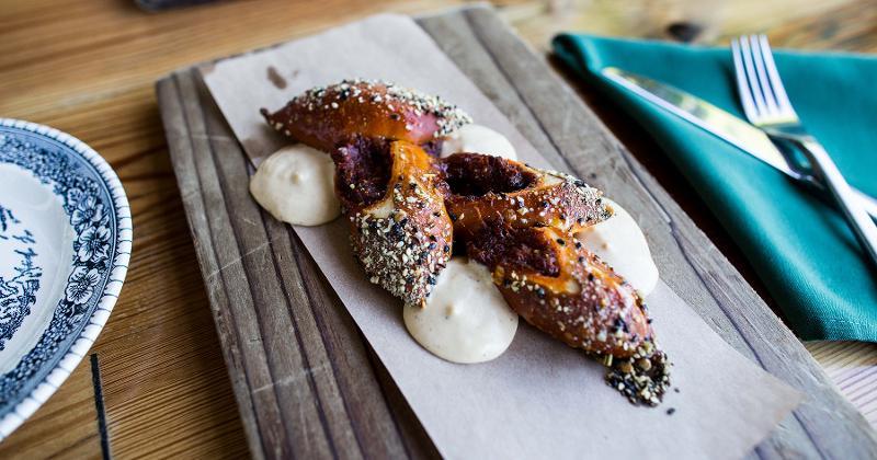 pretzel pig face carnitas odd duck