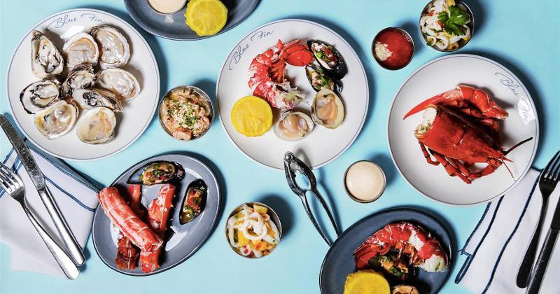 blue fin seafood spread