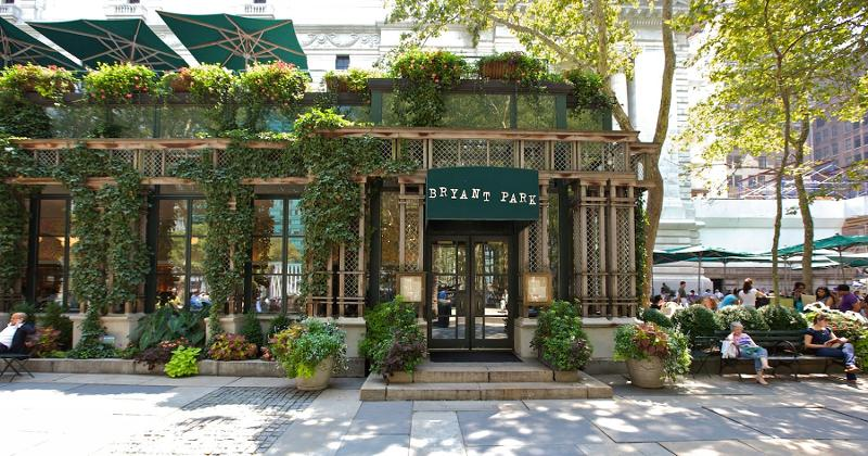 bryant park grill cafe exterior