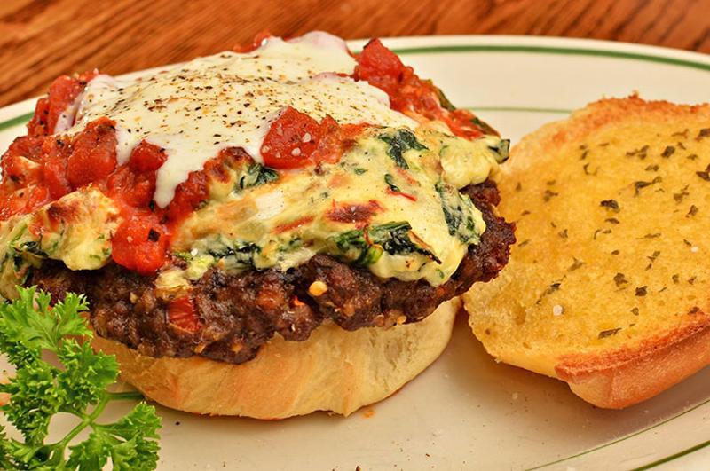 Italian cheese burger