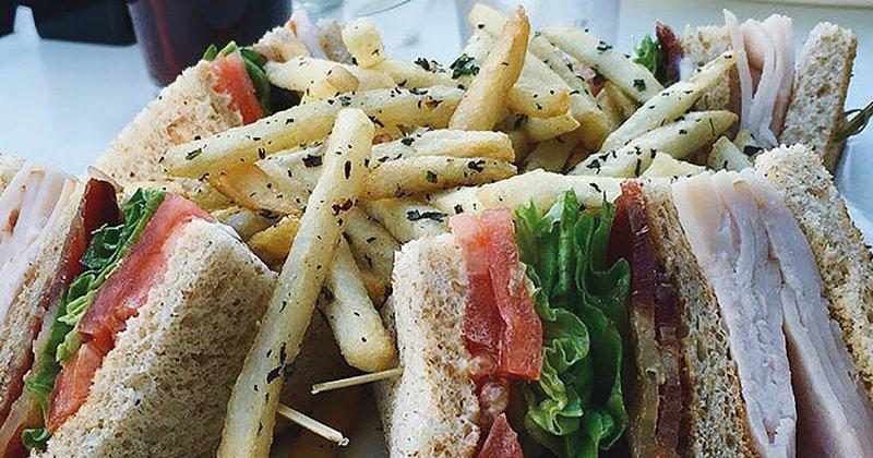 coffee shop sandwich