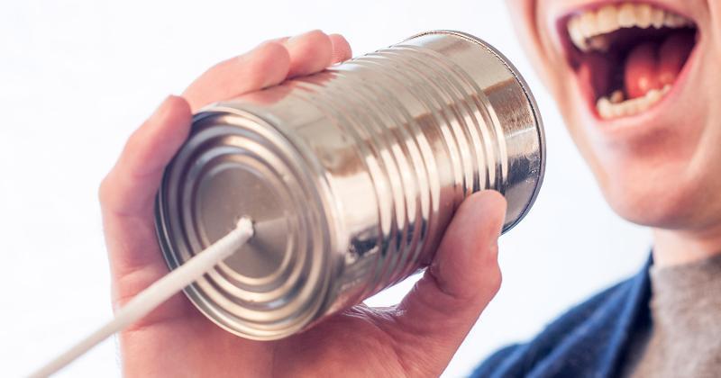 communication tin can