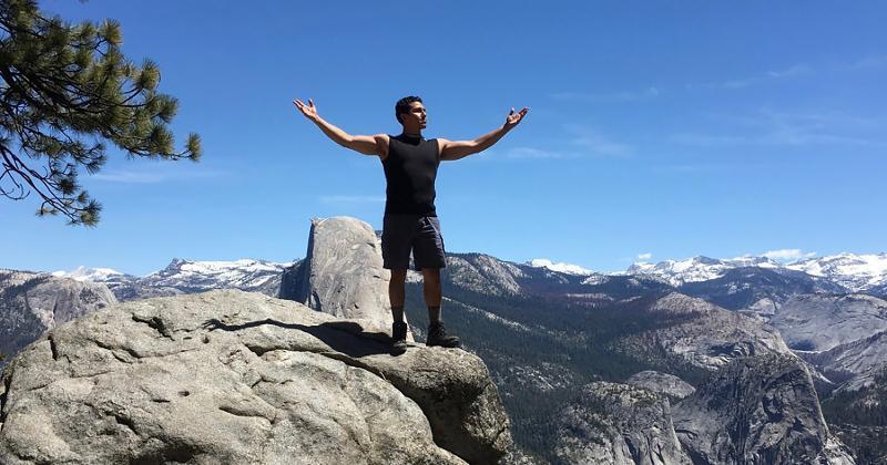 man mountaintop