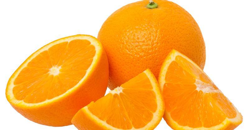 orange fruit pieces