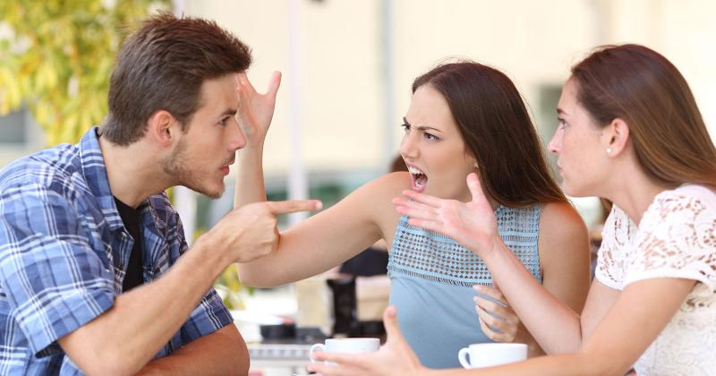 arguing coffee shop