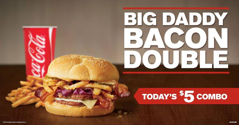 checkers big daddy bacon double
