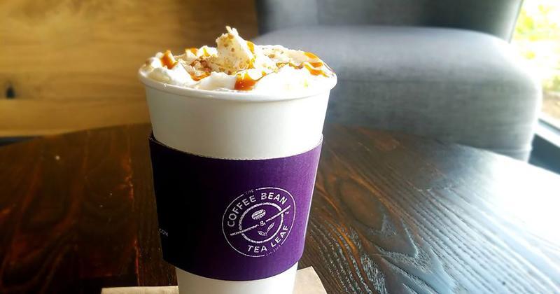 coffee bean tea leaf salted caramel latte
