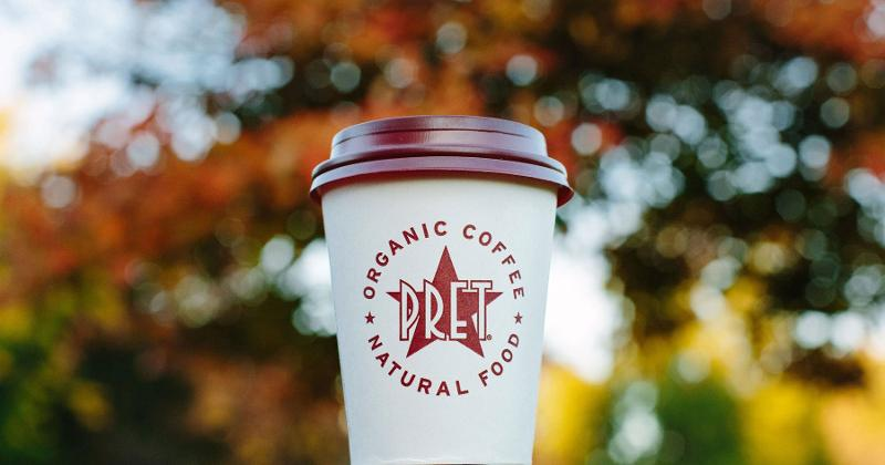 pret a manger coffee cup