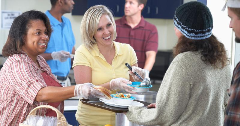 volunteer soup kitchen