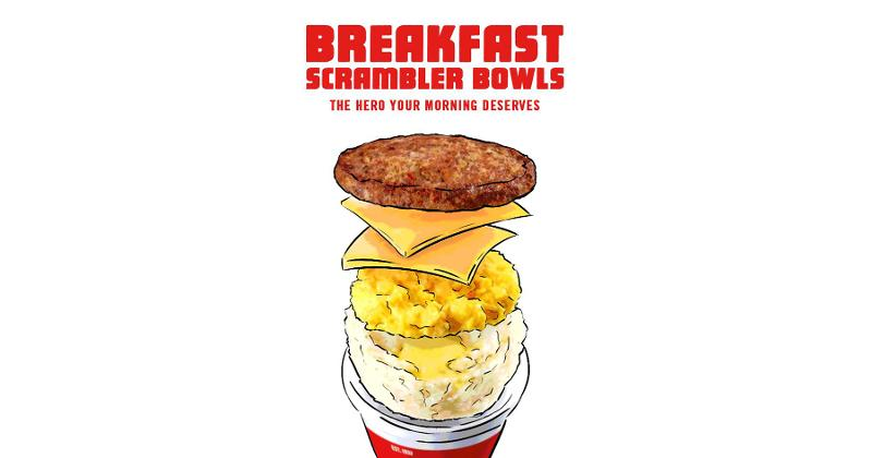 krystal breakfast scrambler bowl