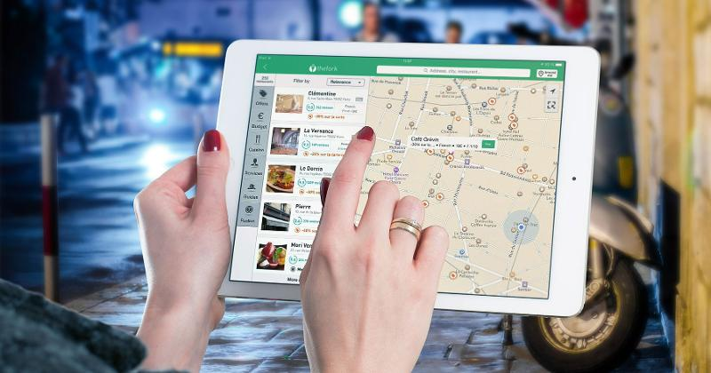 restaurant tablet map