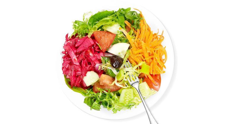 salad fork plate