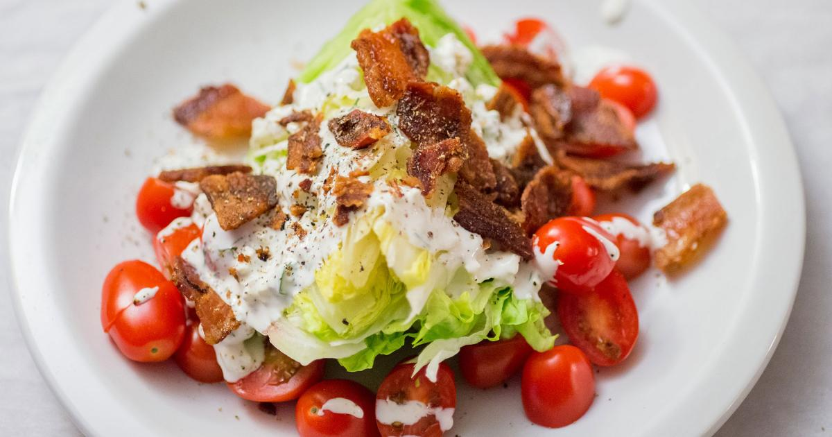 wedge salad plate