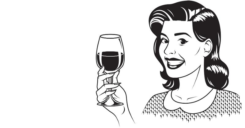 denise drinking wine