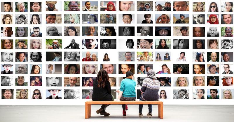 diversity photo wall