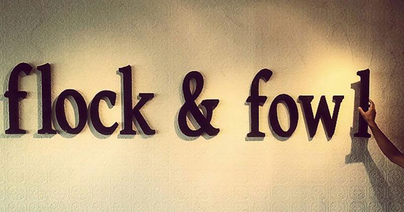 flock fowl letters