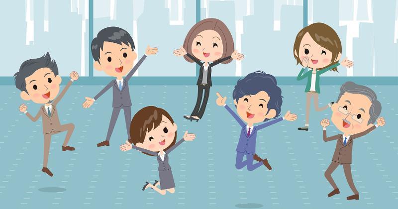 happy employees graphic