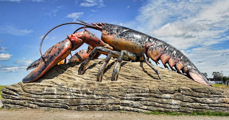 lobster statue