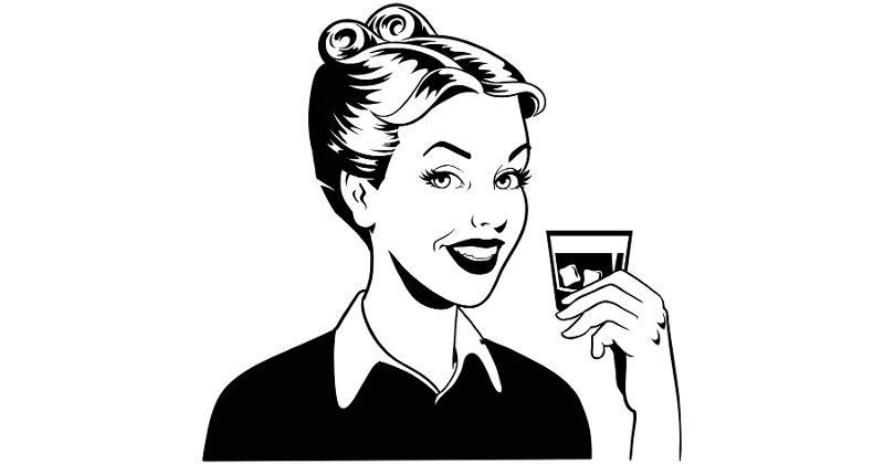 maria drinking liquor