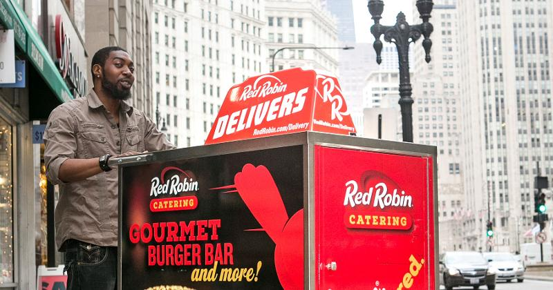 red robin delivery cart