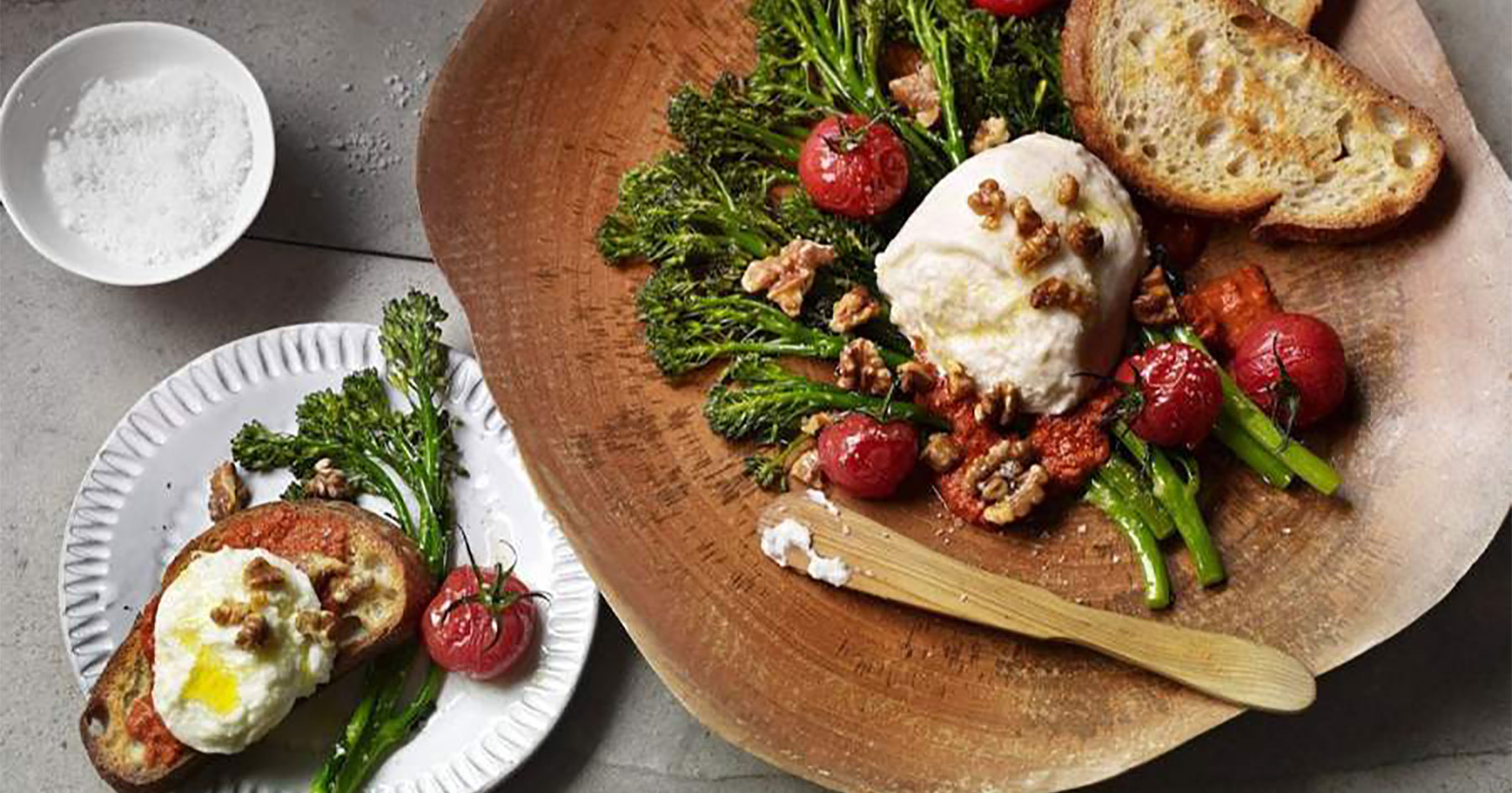 Burrata with Broccolini
