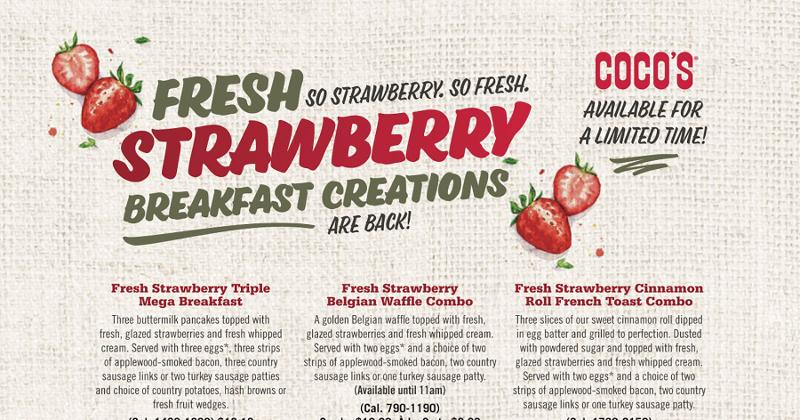 cocos strawberry breakfast creations