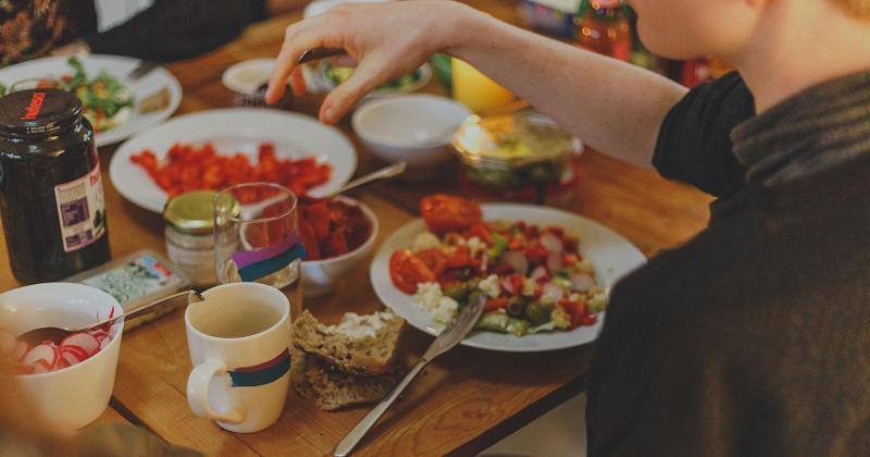 restaurant snacks table